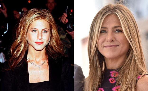 Jennifer Aniston, antes y después.