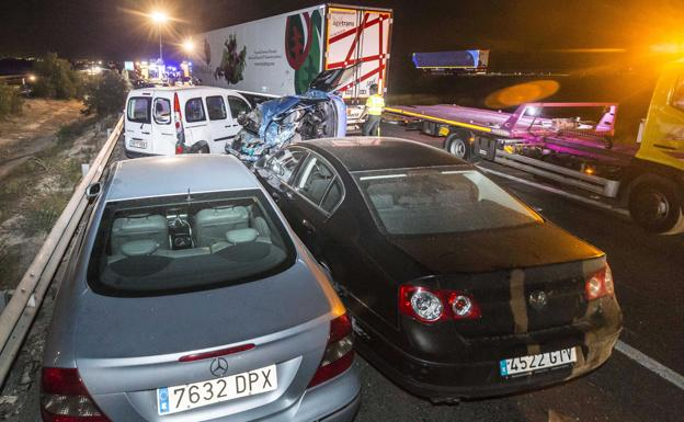 Accidente múltiple en la A7, en Murcia./Marcial Guillén (Efe)