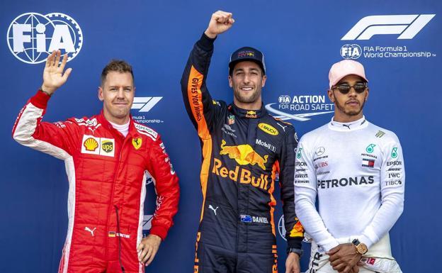 Resultado de imagen para Vettel, Ricciardo y Hamilton