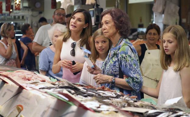 Reina la cordialidad entre Letizia y Sofía