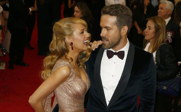 Blake Lively y Ryan Reynolds. /Reuters