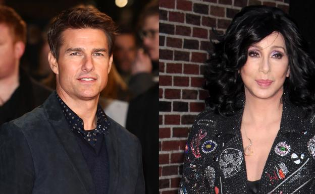 Tom Cruise y Cher. /Bekia