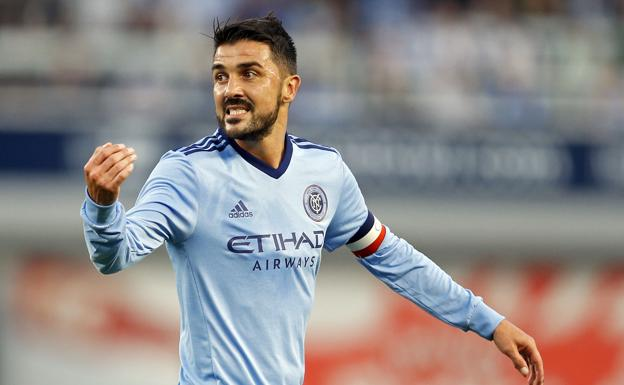 David Villa, durante un partido del New York City./Adam Hunger
