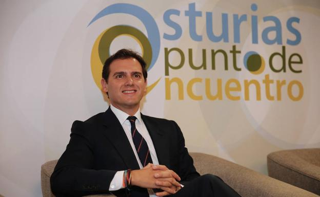 Albert Rivera, en el encuentr en Oviedo./E. Press