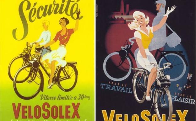 Para trabajar y jugar, la VéloSolex se promocionó como la bicicleta que rodaba sola
