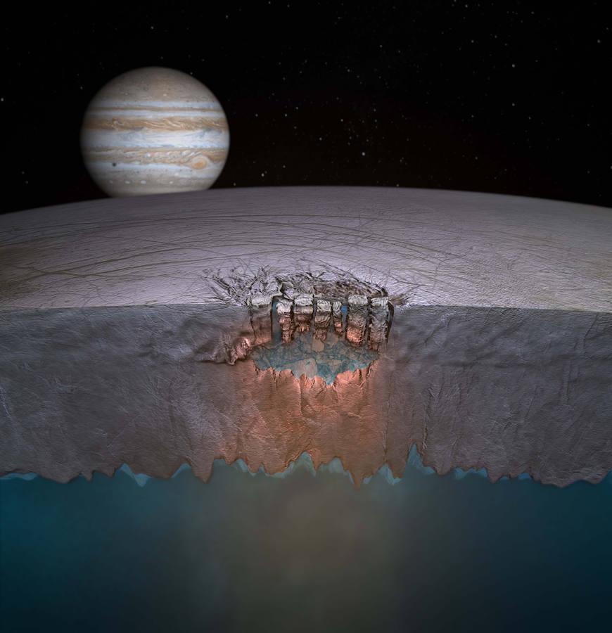 La Nasa Encuentra Géiseres De Agua En La Luna Europa Leonoticias
